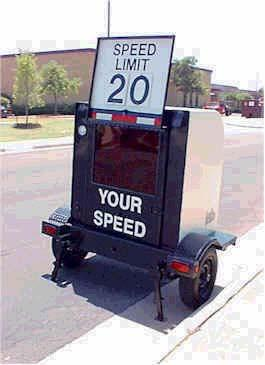 Speed Monitoring Trailer Description: Portable radar speed meter capable of measuring vehicle speed and displaying the speed of the motorist. Educate residents and drivers about vehicle speeds.