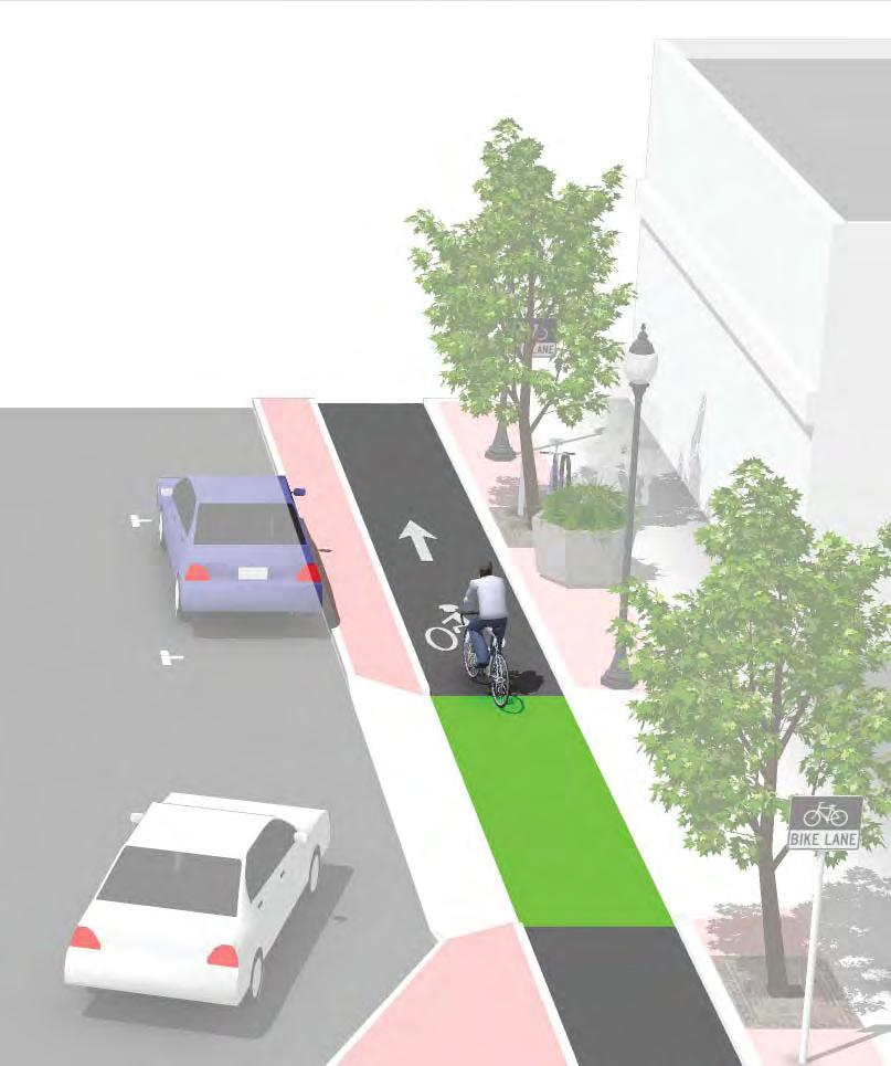 points to allow vehicle crossing Street level cycle tracks should indicate potential