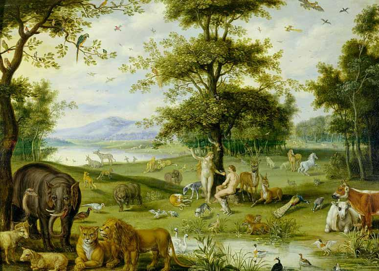 Holy Week Adam and Eve in the Garden of Eden Jan Brueghel l ancien (1568 1625).