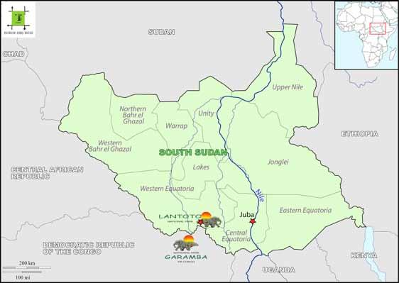 AFRICA Seizure of 42 pieces of elephant tusks, several kg of ivory, 40 kg of bushmeat and 8 pieces of leopard skins South Sudan From January to April 2014 The South Sudan wild animals are war victims.