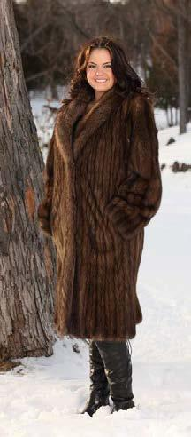 Full Collar, Dolman Sleeve, Let Out Style, 50 Large Pelts, 1 fisher for collar $761 MARTEN B.