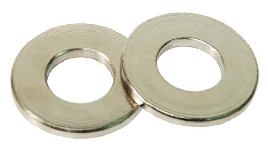 These washers have straight sides, and present a fi nely fi nished appearance. by from either low carbon steel, case hardened to.005/.