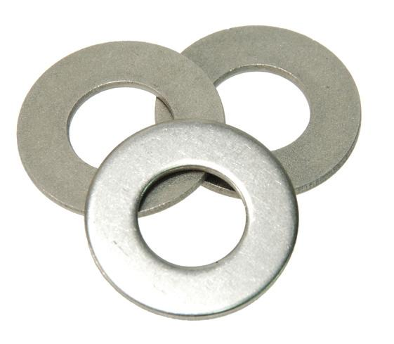 "USA Domestic Standard Flat Washers SAE Standard Flat Washers 18-8 Stainless Steel or Type 316 Stainless Steel ""B"" O.D. ""C"" THICKNESS ""A"" I.D. SAE Standard Flat Washers Stainless Steel Order Numbers Bolt A B C 18-8 Stainless Type 316 Size ID OD Thickness Steel Stainless Steel #4 1/8 5/16""."