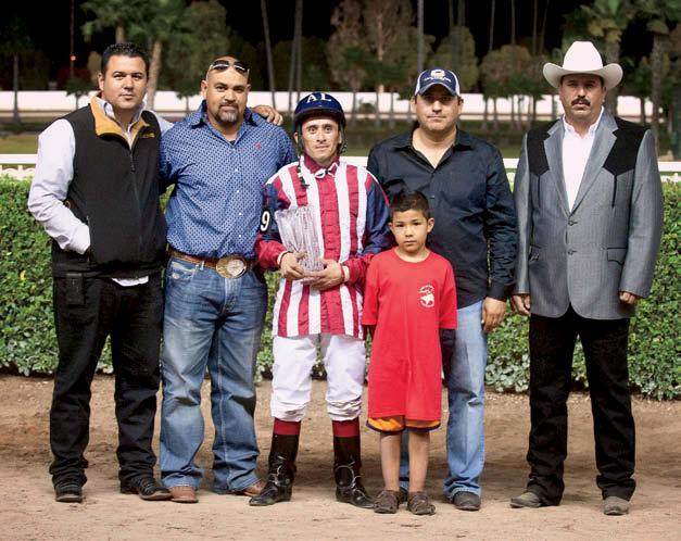 lot of people to see if they wanted to partner with us on horses. (George) Carmona came in and joined us on this horse.