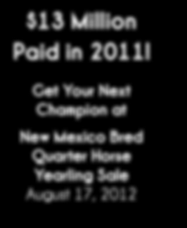 Nation! $13 Million Paid in 2011!
