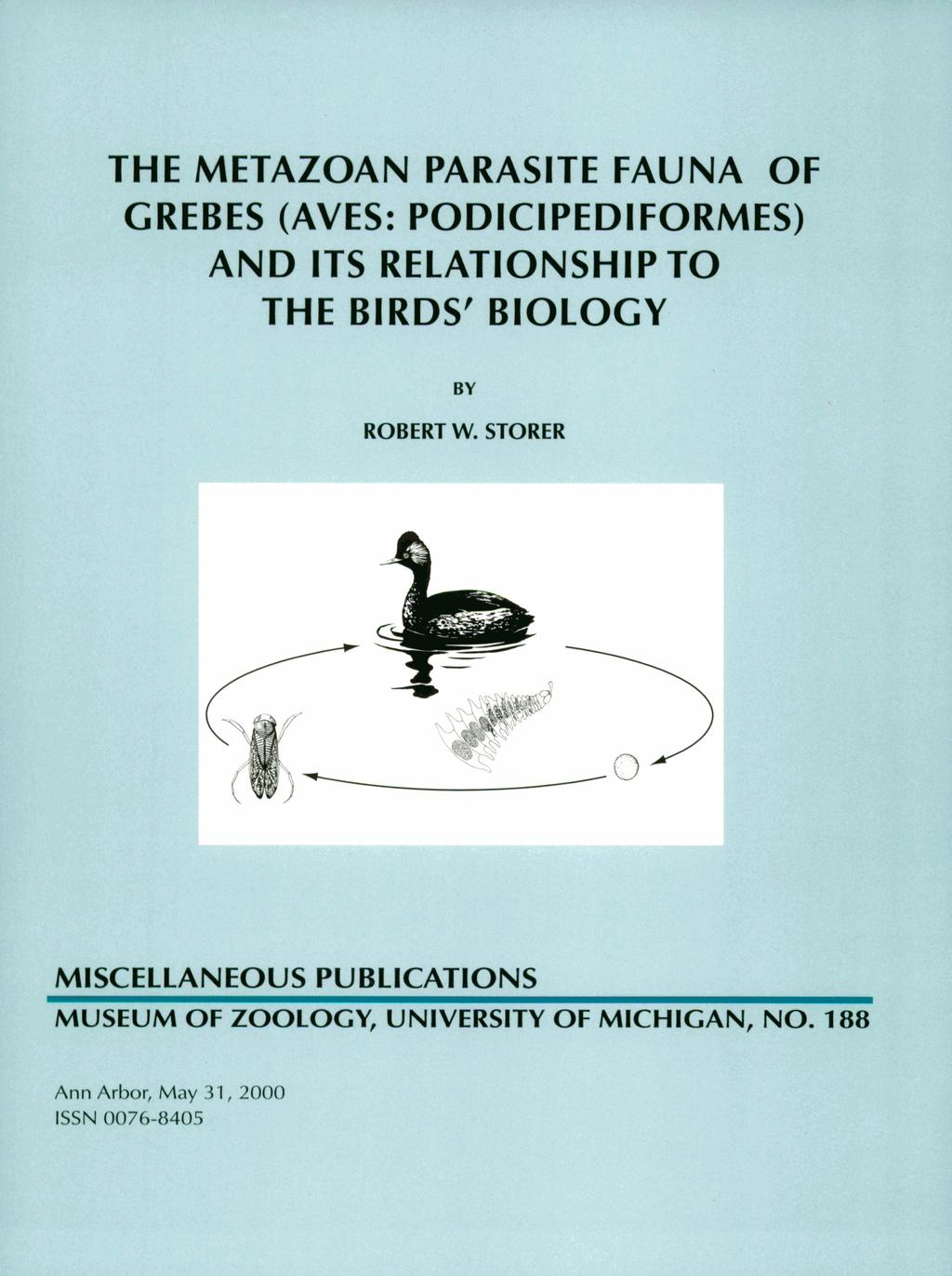 THE METAZOAN PARASITE FAUNA OF GREBES (AVES: PODICIPEDIFORMES) AND ITS RELATIONSHIP TO THE BIRDS' BIOLOGY BY
