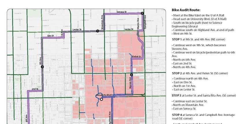 Figure 5-2: Bike Audit Route Pima