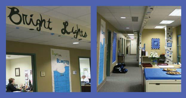 Eastern Illinois University s homecoming theme was Bright Lights, Blue City, and the CEPS Dean s Office wore their school spirit proudly by compe ng in the university s Real Panthers Decorate Blue
