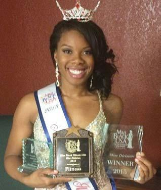 2000s con nued Des ny Lee 13, BSEd in Health Studies, won the tle of Miss Black Illinois USA