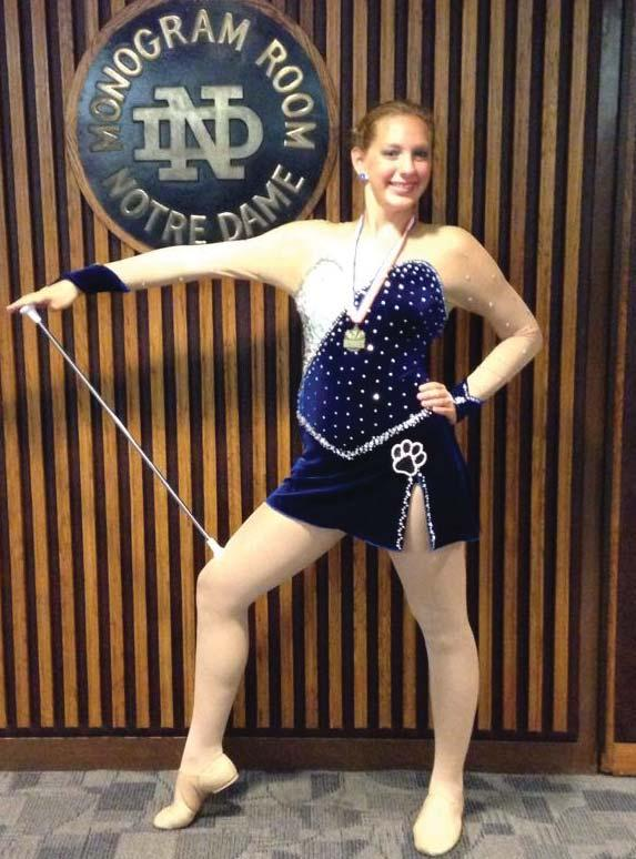 Since four-years-old, Nicola Colucy, a sophomore sports management major at Eastern Illinois University, has been hard at work mastering the sport of baton twirling.
