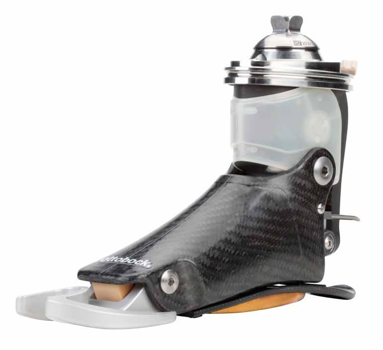 Technical notes on the Meridium s construction Electronics and battery Housed and protected within the ankle area.