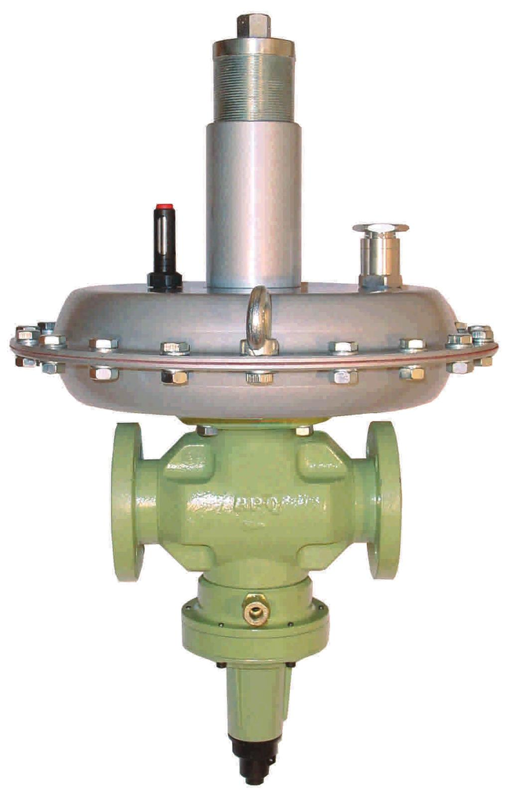 PRESSURE SLAM-SHUT VALVE HIGH PRECISION REGULATION SIMPLE MAINTENANCE; NO NEED TO REMOVE FROM GAS LINE