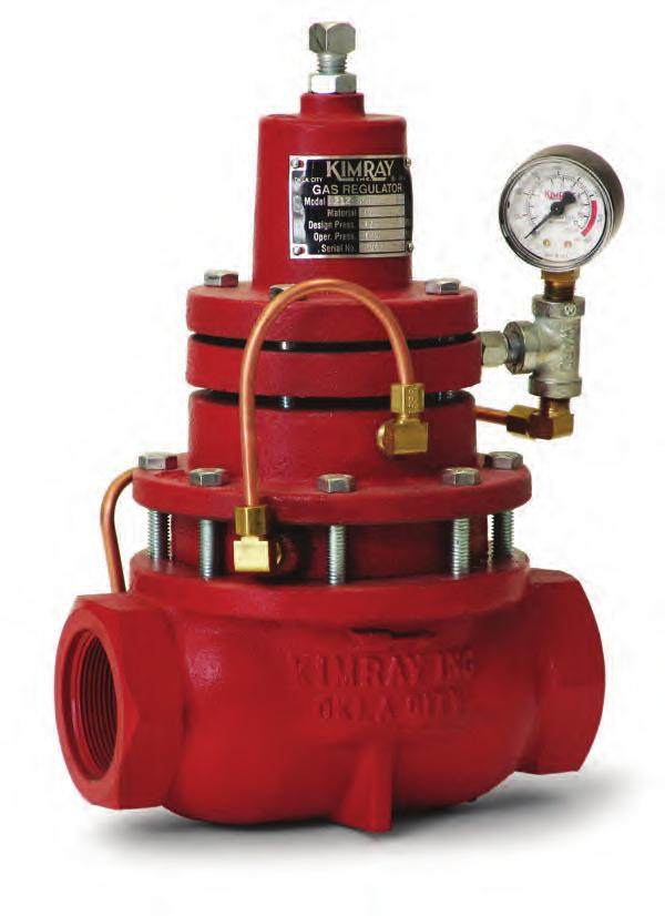 GAS PRESSURE REDUCING APPLICATION: Regulation of inlet pressure to gas compressors. Control of supply or distribution system pressure CERTIFICATIONS: Canadian Registration Number (CRN): 0C16234.
