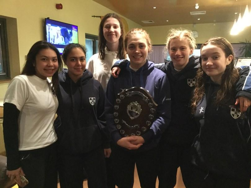 The girls competed against Benenden, Epsom, Sevenoaks and Eastbourne and won the junior, intermediate and senior age group despite some tough opposition.
