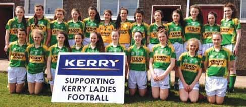 ALL IRELAND WIN FOR U-14 GIRLS Kerry Ladies Football supporters travelled in great numbers to Nenagh, Co. Tipperary on July 20th to see our U-14 team play Mayo in the All-Ireland Final.