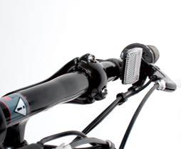 faceplate as shown in photo E. The bars should be rotated to a comfortable gripping position with comfortable access to the brake levers, and centered around the stem.