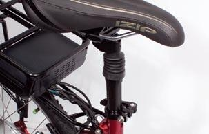Release the front brake by pulling back the rubber boot, squeezing the brake arms together, then removing the noodle from its holder (Photo H).