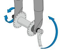 Securely close the quick release. Refer to the appendix of this document for more information on the use and adjustment of quick release levers.