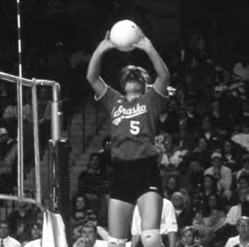 HISTORY Two-time All-American Christy Johnson led the Huskers to their first NCAA title in 1995.