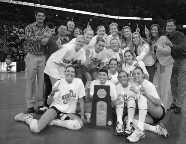 The Huskers are tied for second among all NCAA programs with three national titles (1995,