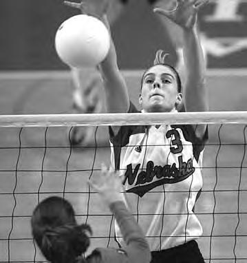 THIS IS NEBRASKA VOLLEYBALL Middle Blockers Defensive Dominance Nebraska has enjoyed a tradition of success at the middle blocker position.