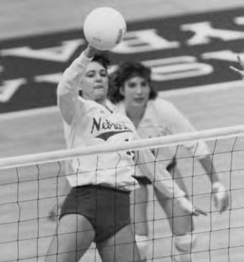 Honda Award winner Karen Dahlgren in 1986. Under Coach John Cook, Nebraska s middle blockers have annually been one of the nation s top units.