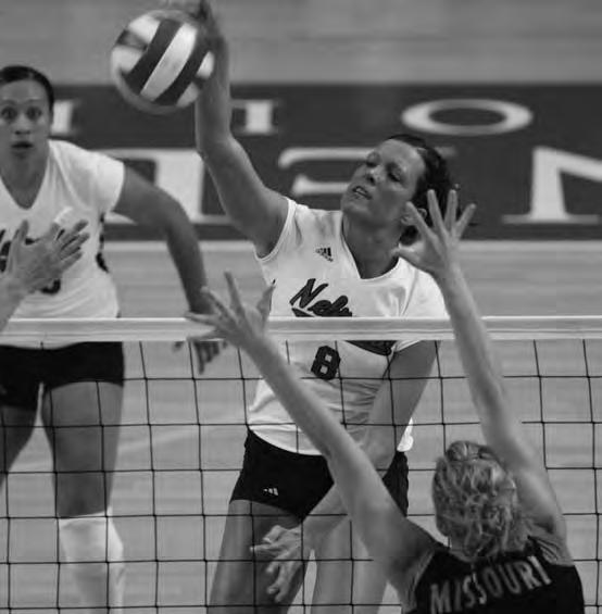 THIS IS NEBRASKA VOLLEYBALL Melissa Elmer Three-Time AVCA All-American Two-Time NCAA Blocks Leader 2005 Honda Award