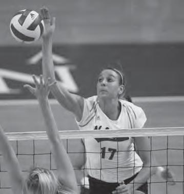 2008 SEASON IN REVIEW 2008 BIG 12 STATISTICS Big 12 Team Leaders - League Matches Hitting Percentage No. Team Sets Kills Errs Total Pct. 1. Texas 71 1061 261 2303.347 2. Nebraska 70 1043 357 2525.