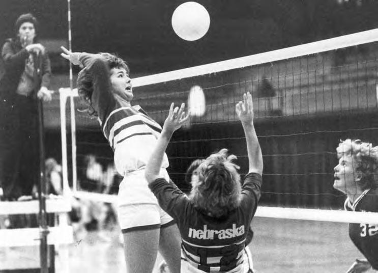 2009 OPPONENTS All-American Terri Kanouse and Lori Melcher helped the Huskers win three straight Big Eight titles from 1978 to 1980. Oct. 15, 1977...L, 15-9, 9-15, 13-15 Oct. 28, 1977.