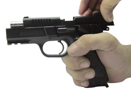 If a cartridge is in the chamber the pistol can fire with the magazine removed.