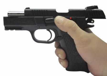 See Fig 26A and 268 If you fired the pistol and wish to stop firing, immediately push the trigger block safety to the
