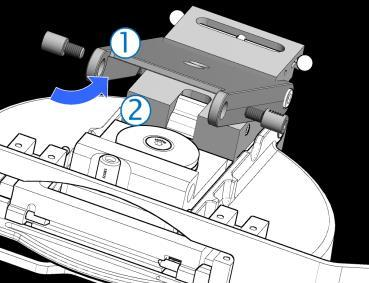 Manually actuate the sidestroke key and the cam (3) parts, checking for free and smooth movement.