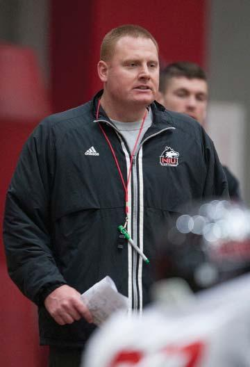 , enters his second season coaching the NIU tight ends and fullbacks and has added special teams coordinator duties in 2015.