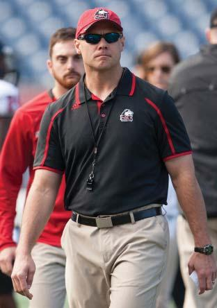 While overseeing the strength and conditioning efforts of the 17 Huskie Athletics teams and a four-person staff, Ohrt works primarily with the NIU football program.