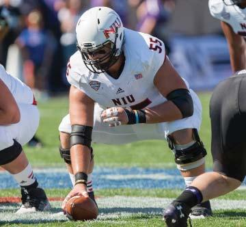 Earned NIU Offensive Lineman of the Week honors again at Toledo (11-20) where the Huskies ran for 364 yards. Led a pass protection unit that allowed only 0.