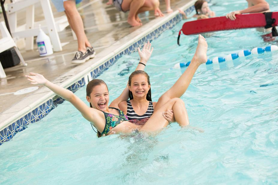 Junior Aquatics Have fun at the swimming pools and splash park throughout the summer!