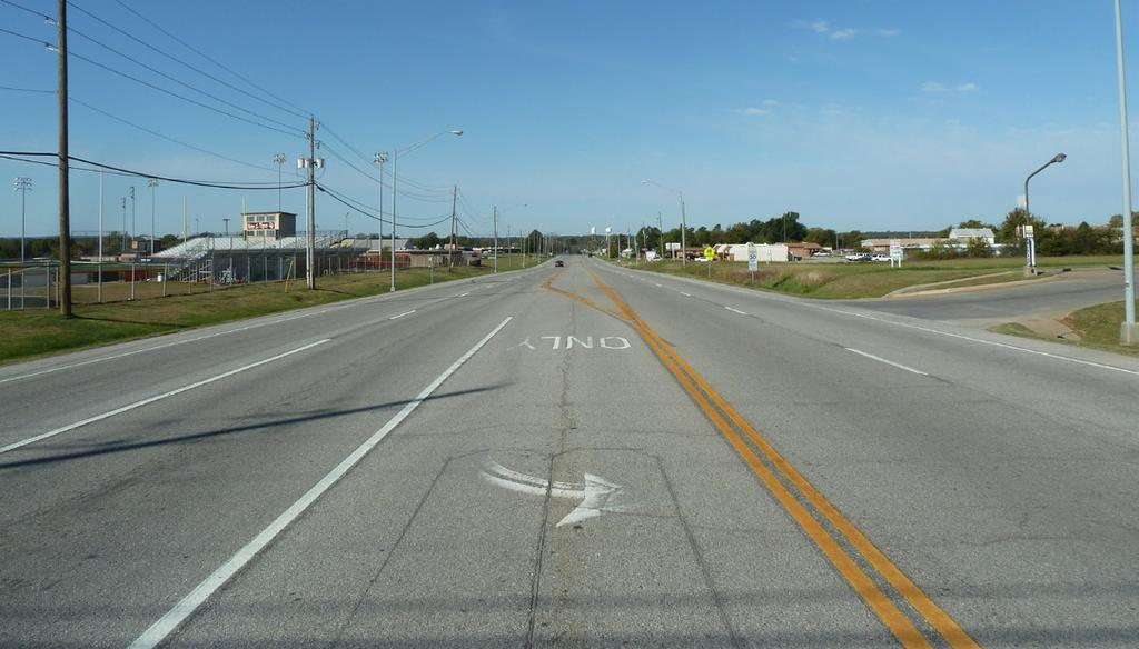 Highway 51 is a large arterial road with high traffic speeds that is the main thoroughfare from Coweta to Tulsa To east, Highway 51