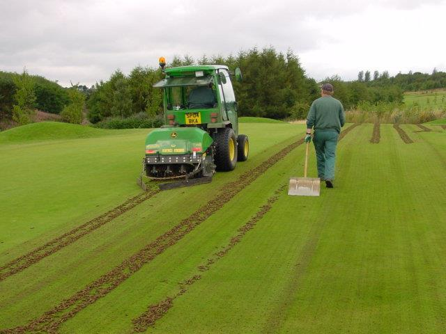 Hollow coring on the 11 th green, September 2005 8.2.2 Tees (Total area 1.