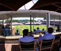 a long balcony and remarkable views of the Ground.