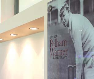 Named after one of the great figures of Lord s, Sir Plum Warner, who captained MCC on its inaugural tour to Australia in 1903-1904, the room is used on match days as a