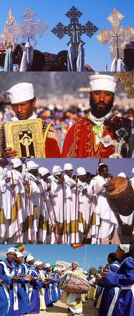 TIMKAT - A TRAVEL PHOTOG- RAPHER S PARADISE Occurring on 19th January (20th January in a leap year), Timkat is the largest and most colourful festival of Orthodox Christians in Ethiopia and one of