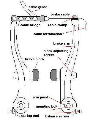 Drivetrain routing through rear derailleur V-Brake Assembly Note: For your own safety it is recommended
