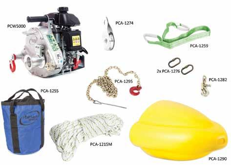 FORESTRY KIT WITH PCW5000 WINCH PCW5000-FK For forestry work, this kit will help you face the many situations you will