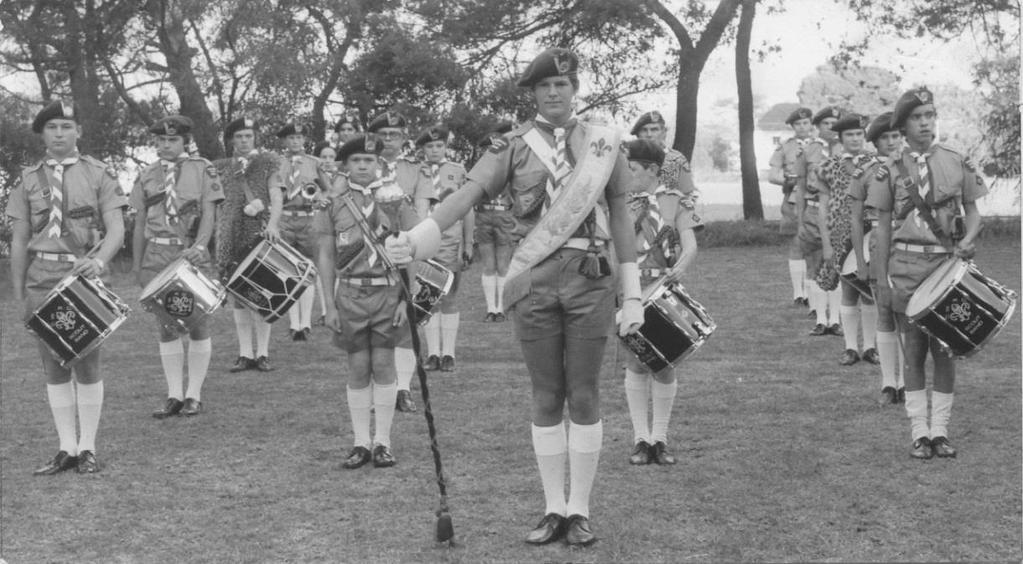 1st Annual (Passing-Out) Parade of the Scout Divisional Band The Bandsmen belonged to ten different Troops and gave a display after which the Divisional Chairman, Mr Clifford Harris presented the