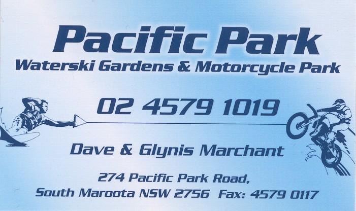 Kurrajong Pacific Park is privately owned you may only ride on club days