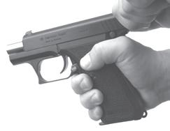 hand. 5. SLIDE CATCH LEVER The P7 pistols incorporate a slide catch lever located on the left side of the frame behind the trigger.