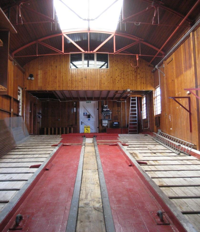 ABOVE IMAGE: The original lifeboat station with the tapered floor slopeing towards the