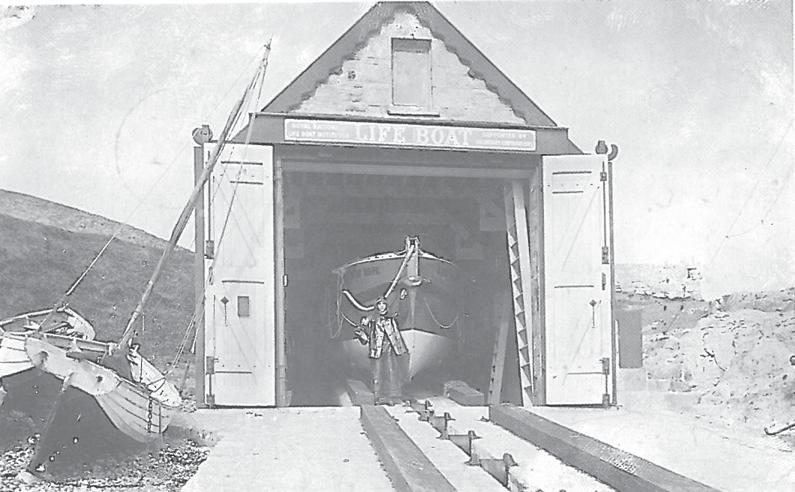 Figure 09: Moelfre Lifeboat House in 1908, with