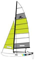 Its symmetrically shaped hulls provide lift while eliminating the need for daggerboards.