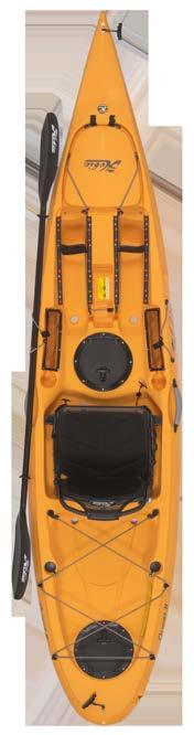 5 lbs / 37kg 550 lbs / 249kg LANAI QUEST 11 QUEST 13 ODYSSEY Ideal for shorter paddlers but it also accommodates taller kayakers thanks to its molded foot braces Glides smoothly and efficiently,